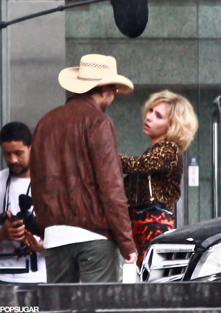 Scarlett Johansson headed all the way to China on Monday to film scenes for Lucy.