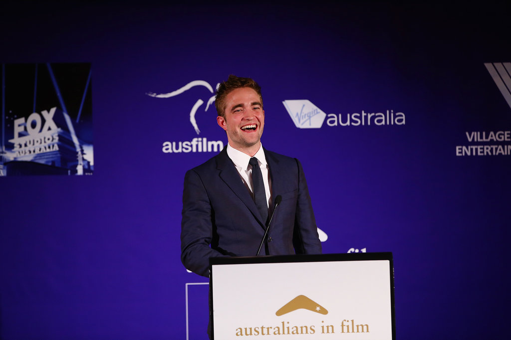 Robert Pattinson presented an award on Thursday night at LA's Australians in Film Awards.