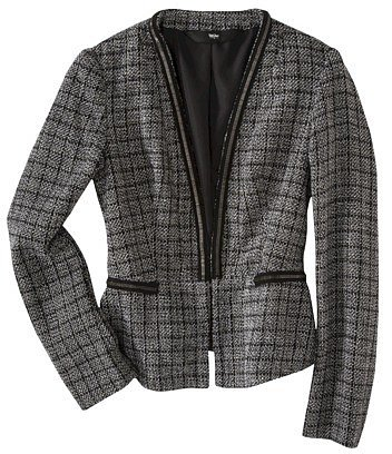 Mossimo® Womens Boucle Blazer w/ Chain Detail - Black