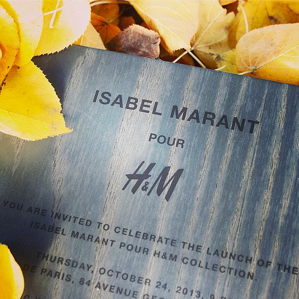 As if we weren't already excited enough for Isabel Marant for H&M, a peek at the invitation made us ready to shop!  Source: Instagram user hm