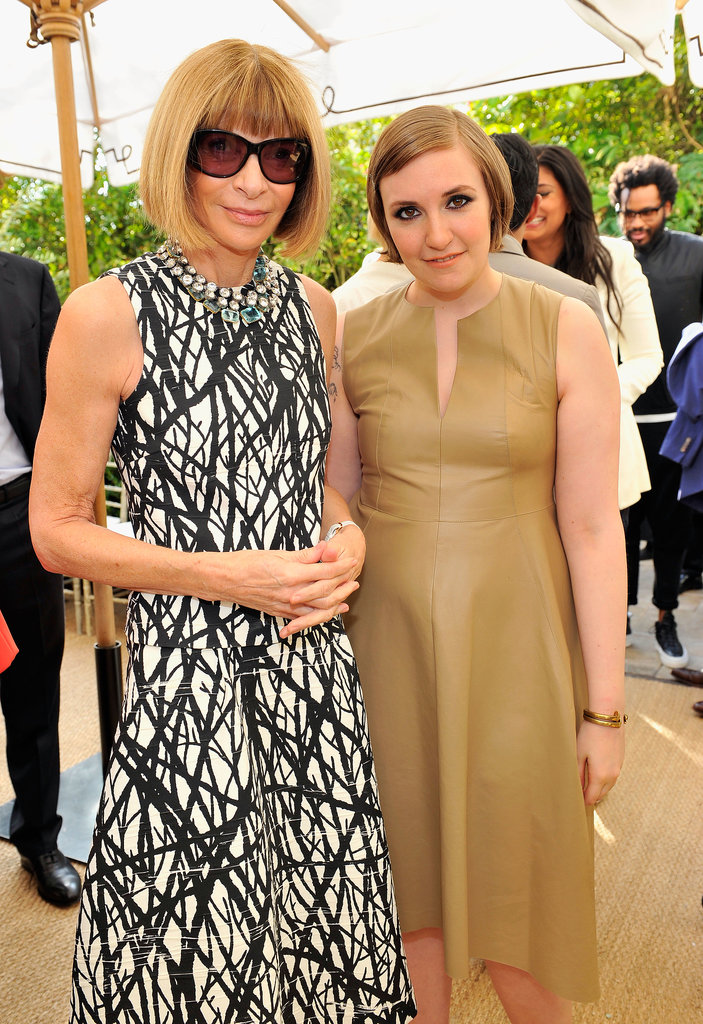 Anna Wintour and Lena Dunham