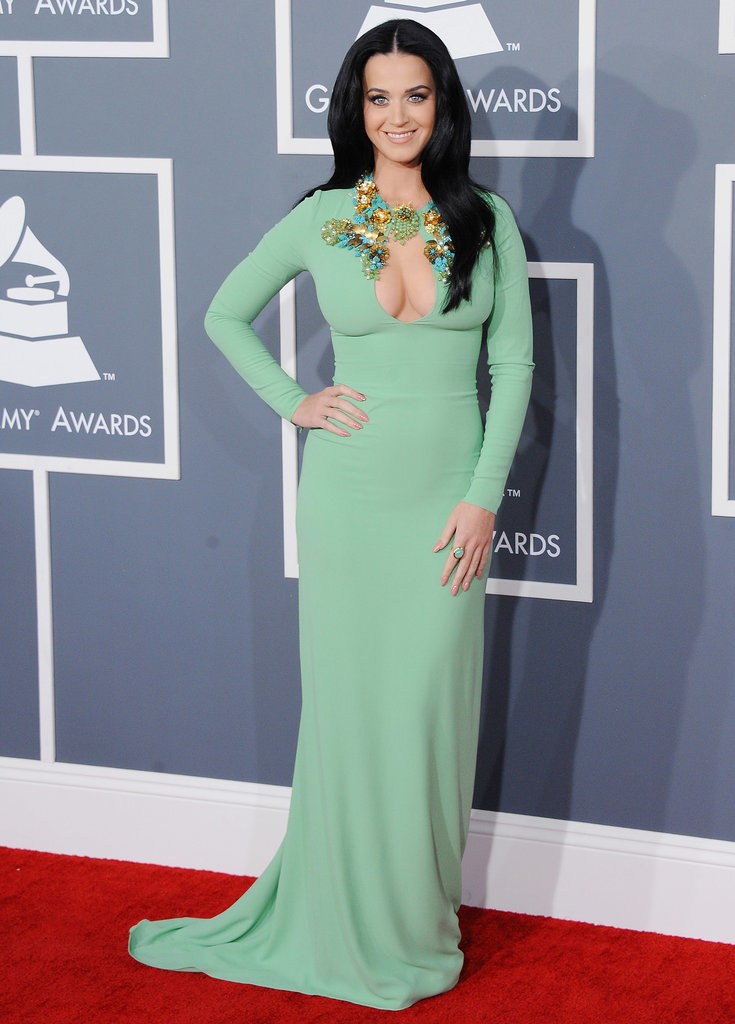 Katy Perry put her assets on display at the February 2013 Grammys in LA.