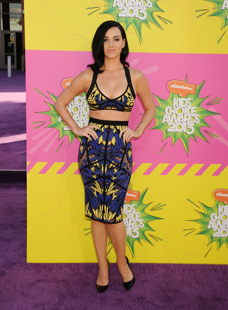Katy Perry flaunted her curves at the Kids' Choice Awards in LA in March 2013.
