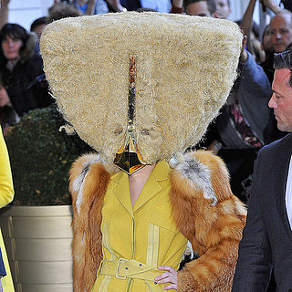Lady Gaga in a Giant Hair Mask in Berlin | Pictures