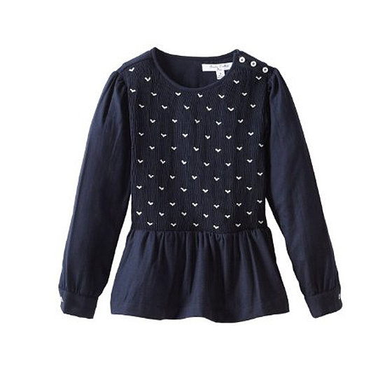 We love the heart details on this navy flannel top ($80).
