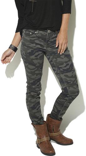 Camo Gem Stone Skinny Jean