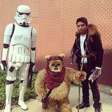 Stormtrooper, Ewok, and Han Solo