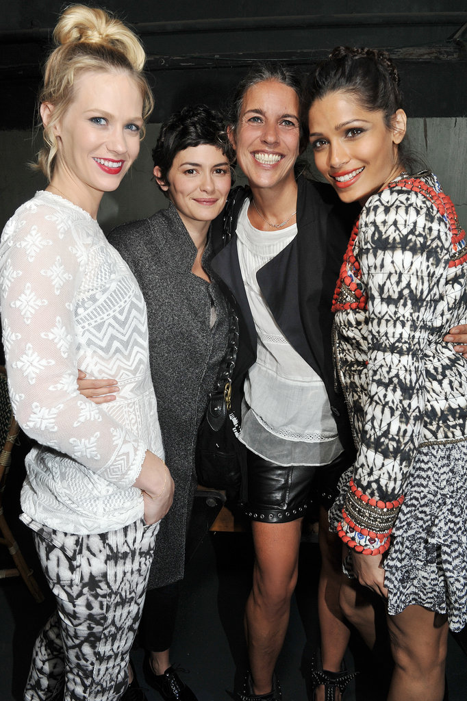 January Jones, Audrey Tautou, and Freida Pinto buddied up with Isabel Marant. Photo courtesy of H&M