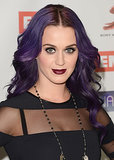 For an industry dinner in 2012, Katy tried out a more vampy look complete with purple-colored waves.