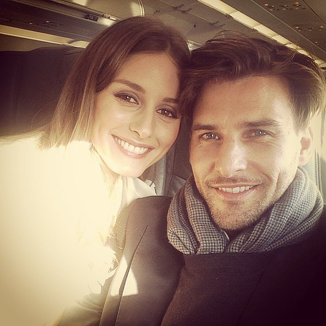 Olivia Palermo (with boyfriend Johannes Huebl in tow) showed off her flawless airport makeup before jet-setting for the weekend. Source: Instagram user therealoliviap