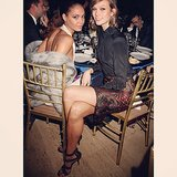 Joan Smalls and Karlie Kloss posed during a night out. Source: Instagram user joansmalls