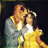 Beauty and the Beast Sarah Hyland dressed up as Belle with her boyfriend, Matt Prokop, as the Beast. Source: Instagram user therealsarahhyland