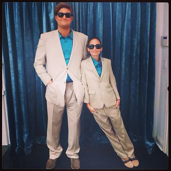 Nicole Richie dressed as Danny DeVito in the movie Twins. Source: Instagram user nicolerichie