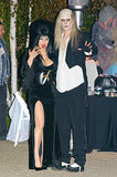 Josh Duhamel and Fergie dressed up as Riff Raff from Rocky Horror Picture Show and Elvira for a party in LA.