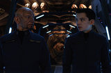 Ben Kingsley and Asa Butterfield in Ender's Game.