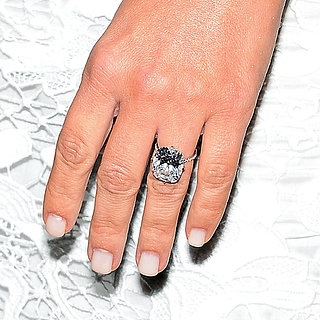 Kim Kardashian White Manicure Engagement Ring