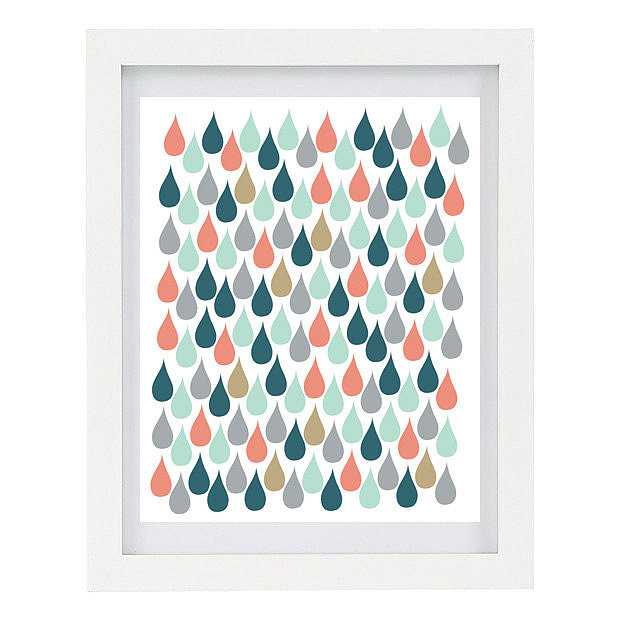 Fall rain storms won't feel so dreary thanks to this raindrops print ($15).