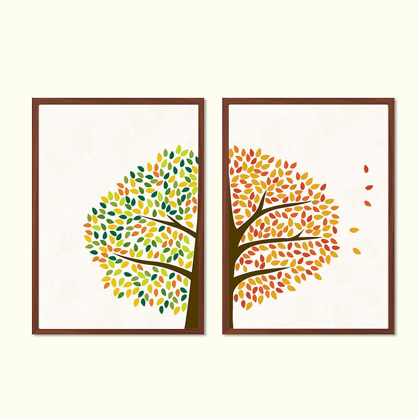A colorful Spring and Fall tree set ($25) is one you'll want to keep through next year.
