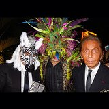 Giancarlo Giammetti and Valentino Garavani got into the act at their masquerade party. Source: Instagram user privategg