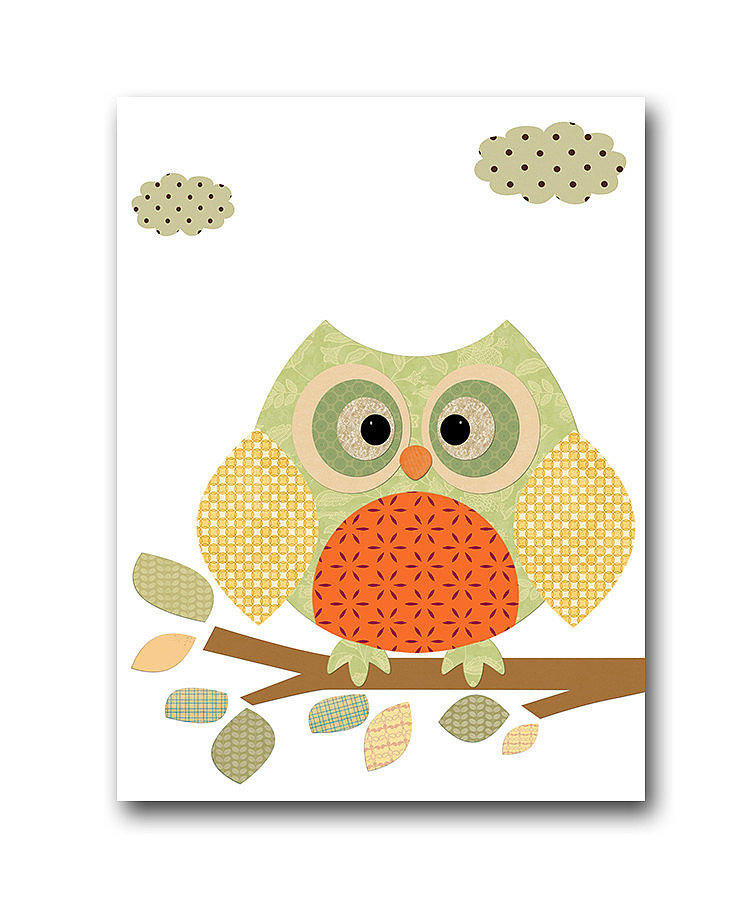 No Fall art print roundup would be complete without some awesome owl decor ($14).