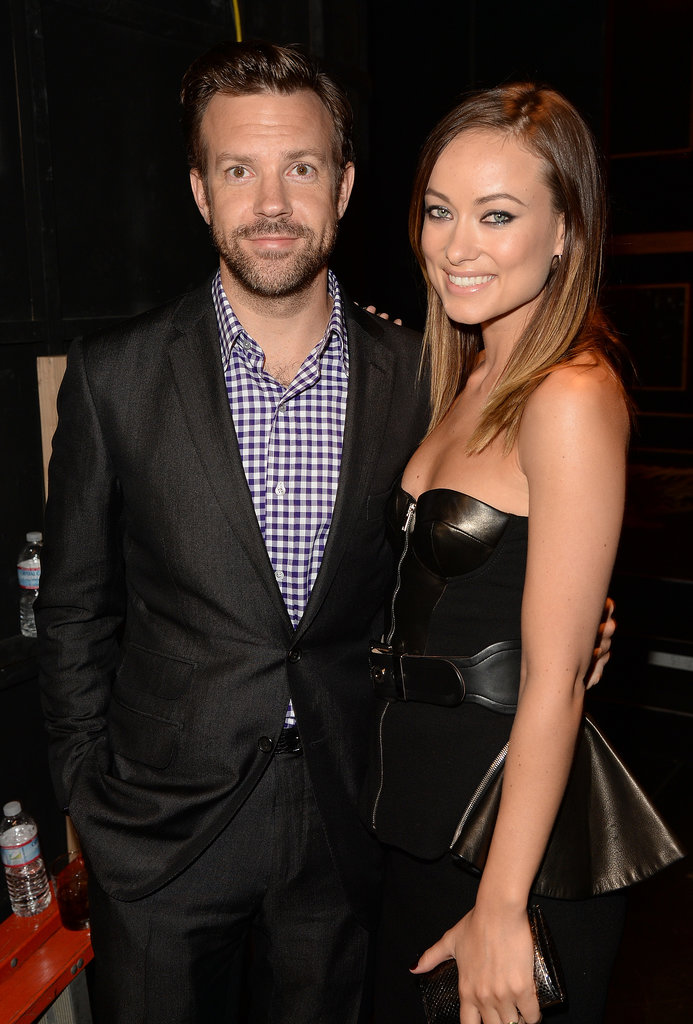 Jason Sudeikis and Olivia Wilde posed backstage together at the Spike TV Guys' Choice Awards in LA in June 2013.