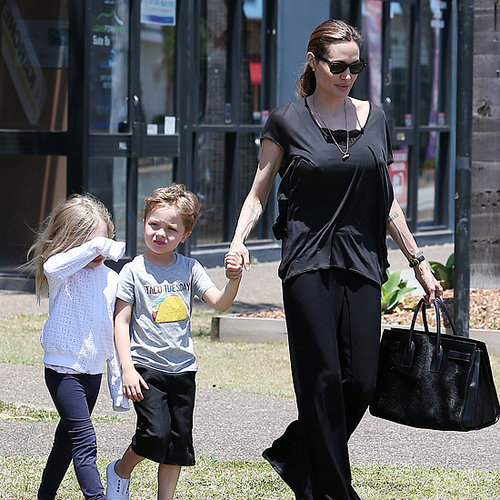 Angelina Jolie Pictures in Australia With Her Kids