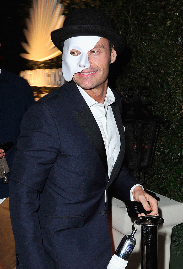 Phantom of the Opera Ryan Seacrest went as the phantom of the opera.