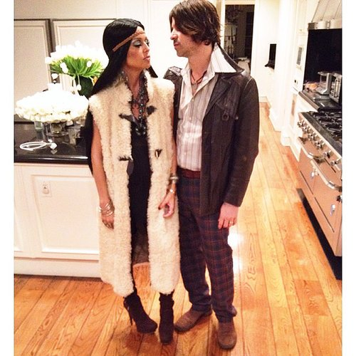 Sonny and Cher Rachel Zoe and Rodger Berman went as '70s icons Sonny and Cher.  Source: Instagram user rachelzoe