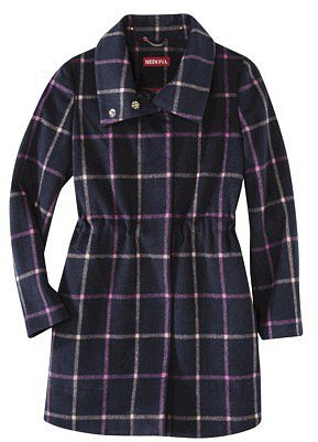 Merona® Women's Long Plaid Topper Coat -Xavier
