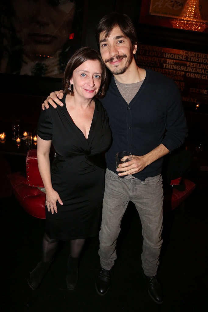 Justin Long posed with Rachel Dratch.