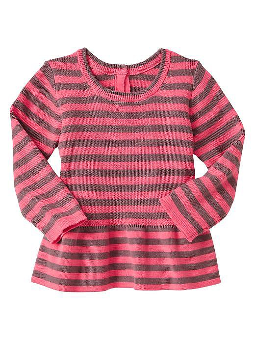 Gap Striped Peplum Sweater