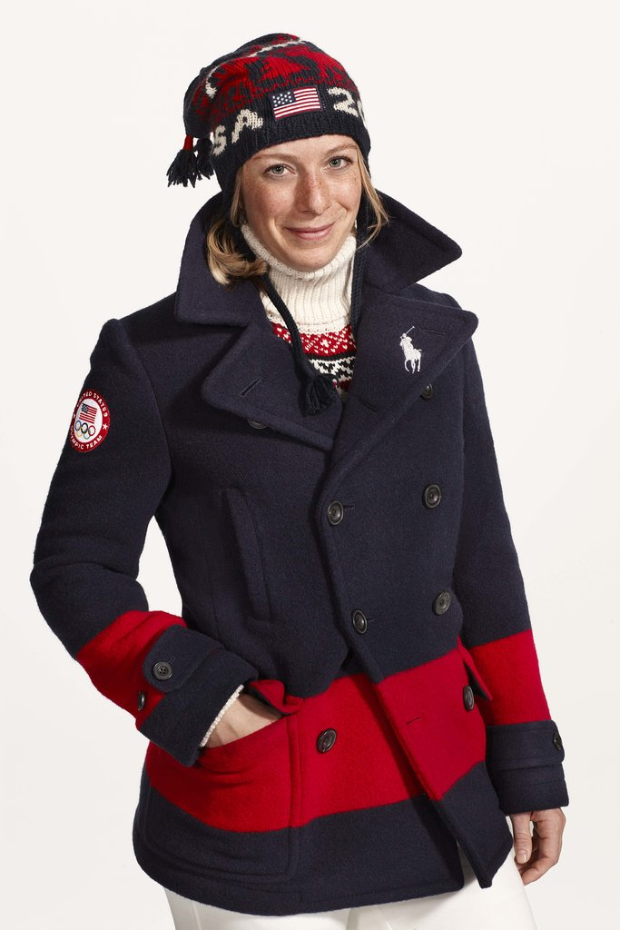 Hannah Kearney in Ralph Lauren's closing-ceremony uniform. Photo courtesy of Ralph Lauren
