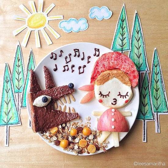 Malaysia-based mom Samantha Lee is known for making creative food art for her kids, and this Little Red Riding Hood rendition is proof of her talents.  Source: Instagram user leesamantha