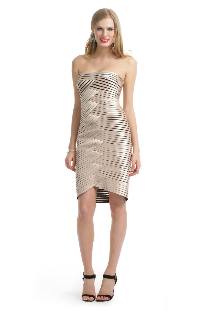 BCBG Max Azria Champagne Hypnotizer Dress ($50)