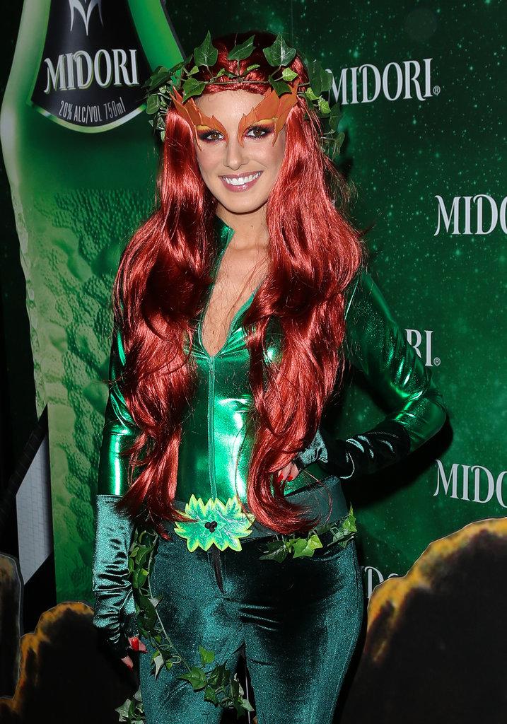 Poison Ivy Shenae Grimes dressed as the Batman villain.