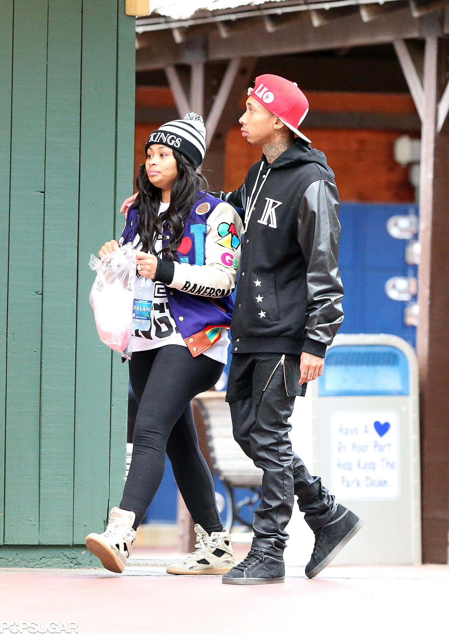 Blac Chyna and Tyga shared cotton candy during the birthday