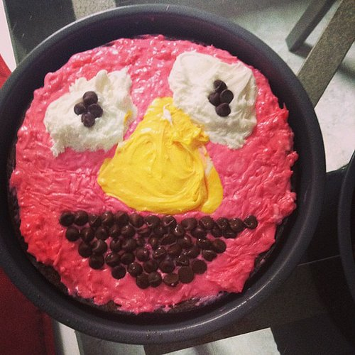 When your daughter expects an Elmo cake for her second birthday, but she gets a pink blob instead.  Source: Instagram user jackfossett