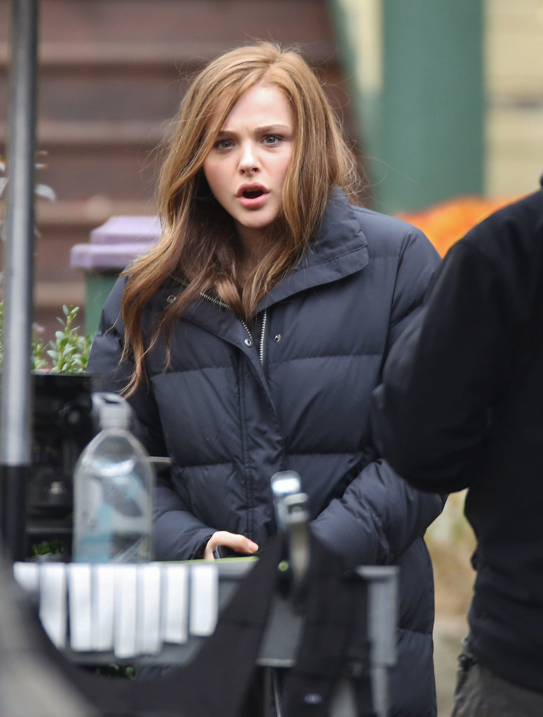 Chloë Moretz was in Vancouver on Wednesday to film If I Stay.