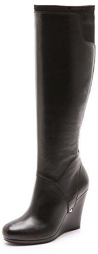 Dkny Nadia Stretch Back Wedge Boots