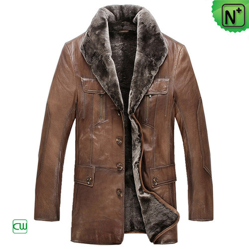 Winter Sheepskin Shearling Coat for Men CW868801