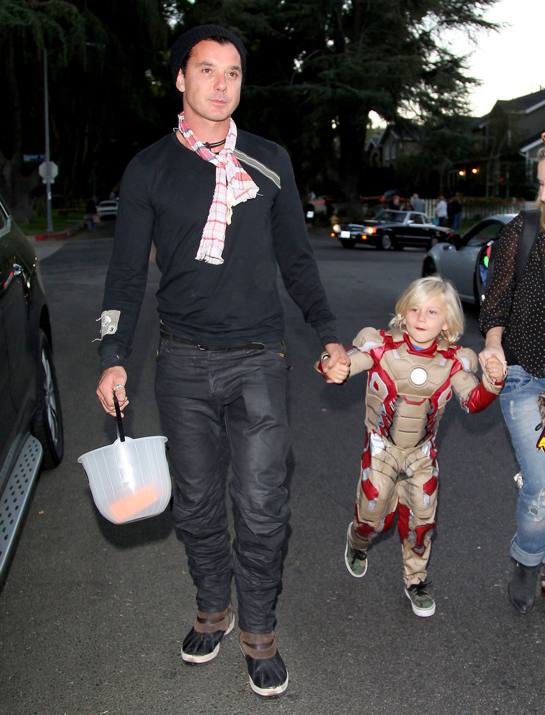 Gavin Rossdale took his family out for Halloween in LA.