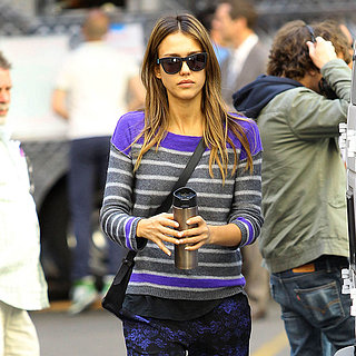 Jessica Alba Wearing Splendid Top