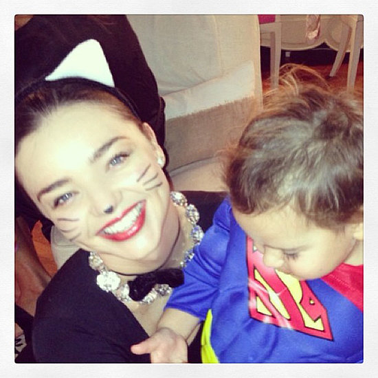 "Miranda ""Kitty"" Kerr was all smiles with her Superman, Flynn.  Source: Instagram user mirandakerr"