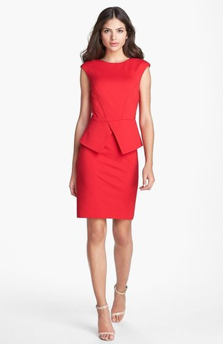 Ted Baker London 'Evvie' Structured Waist Stretch Peplum Sheath Dress