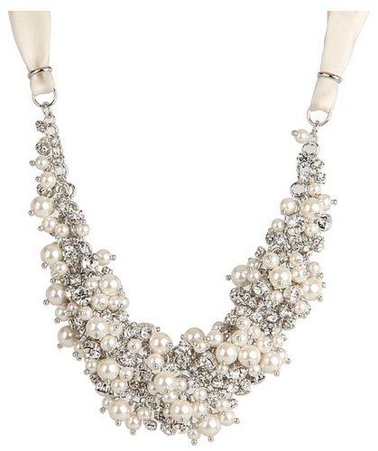 Nina - Melaney Necklace (Pearl/Crystal) - Jewelry