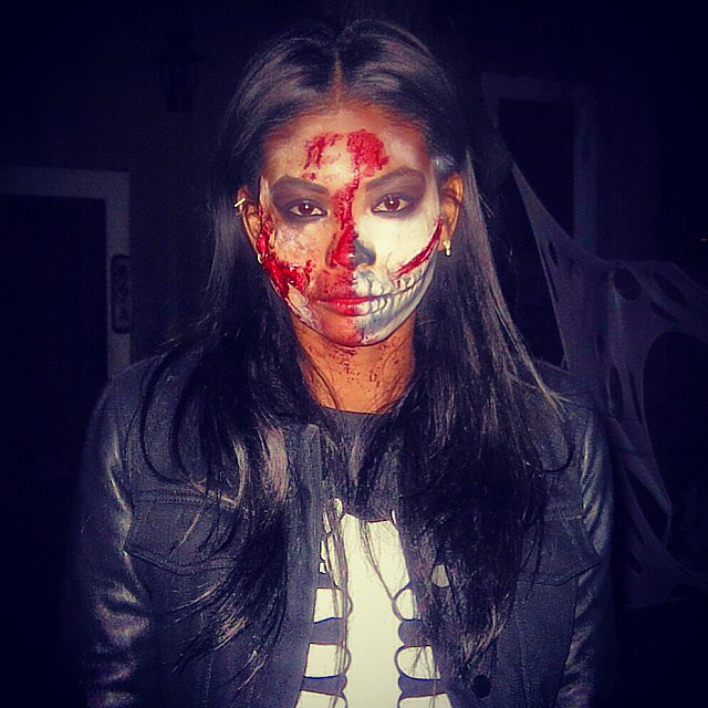 Chanel Iman sported scary makeup. Source: Instagram user chaneliman