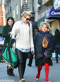 Michelle Williams walked with her daughter, Matilda Ledger, in New York on Monday. It was Matilda's eighth birthday.