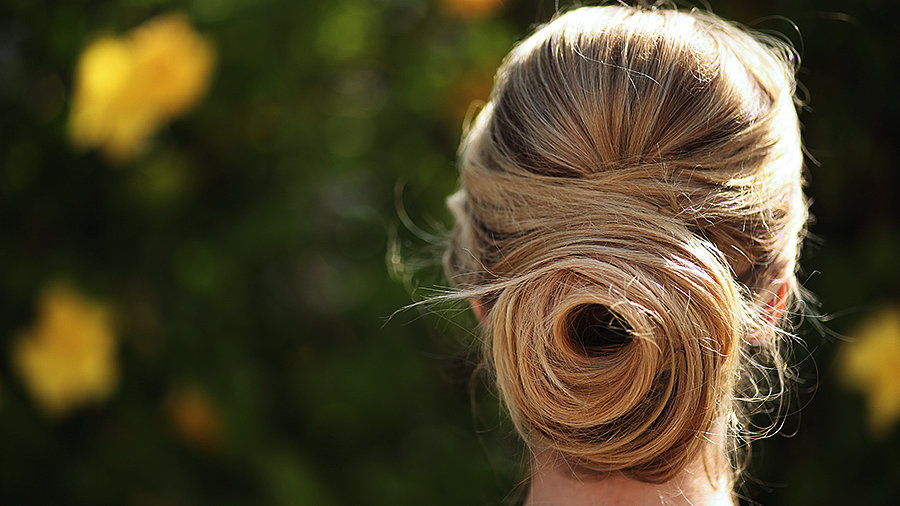 Walk Down the Aisle in a Rose Bun