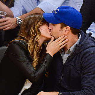 Olivia Wilde and Jason Sudeikis Kissing At Basketball Game