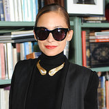 Nicole Richie In all Black With Rachel Zoe, David Webb Lunch